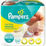 PAMPERS COUCHES NEW BABY MICRO 1-2,5 KG x 24 à Trelissac