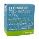 FLUIMUCIL EXPECTORANT ACETYLCYSTEINE 200 mg SANS SUCRE, granulés pour solution buvable en sachet édulcorés à l'aspartam et au sorbitol à Trelissac