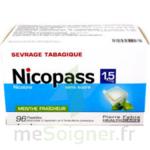 NICOPASS 1,5 mg SANS SUCRE MENTHE FRAICHEUR, pastille édulcorée à l'aspartam et à l'acésulfame potassique à Trelissac