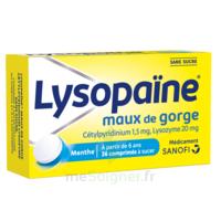 LysopaÏne Comprimés à Sucer Maux De Gorge Sans Sucre 2t/18 à Trelissac
