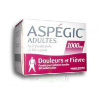 Aspegic Adultes 1000 Mg, Poudre Pour Solution Buvable En Sachet-dose 20