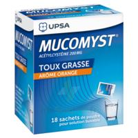 MUCOMYST 200 mg Poudre pour solution buvable en sachet B/18 à Trelissac