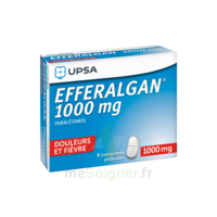 Efferalgan 1000 mg Comprimés pelliculés Plq/8 à Trelissac