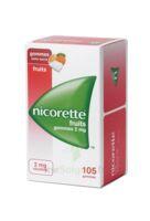 Nicorette 2 mg Gomme à mâcher médicamenteuse sans sucre fruits Plq/105 à Trelissac
