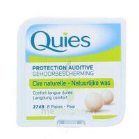 QUIES PROTECTION AUDITIVE CIRE NATURELLE 8 PAIRES à Trelissac