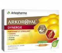 Arkoroyal Dynergie Ginseng Gelée Royale Propolis Solution Buvable 20 Ampoules/10ml à Trelissac