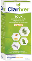 Clariver Solution buvable Toux sèche et productive enfant Fl/175ml à Trelissac