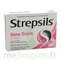 Strepsils Fraise Sans Sucre, Pastille édulcorée à L'isomalt, Au Maltitol Et à La Saccharine Sodique à Trelissac