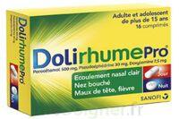 DOLIRHUMEPRO PARACETAMOL, PSEUDOEPHEDRINE ET DOXYLAMINE, comprimé à Trelissac