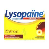 LYSOPAÏNE MAUX DE GORGE AMBROXOL CITRON 20 mg SANS SUCRE, pastille édulcorée au sorbitol et au sucralose à Trelissac