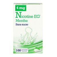 NICOTINE EG 4 mg Gom à mâcher médic sans sucre menthe édulcorée à l'acésulfame potassique et saccha Plq/108 à Trelissac