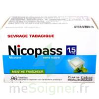 Nicopass 1,5 Mg Pastille Sans Sucre Menthe Fraîcheur Plq/96 à Trelissac