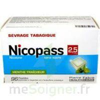 Nicopass 2,5 Mg Pastille Menthe Fraîcheur Sans Sucre Plq/96 à Trelissac