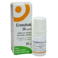 CROMABAK 20 mg/ml, collyre en solution à Trelissac