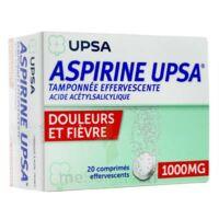 ASPIRINE UPSA TAMPONNEE EFFERVESCENTE 1000 mg, comprimé effervescent à Trelissac