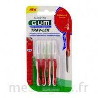 Gum Trav - Ler, 0,8 Mm, Manche Rouge , Blister 4 à Trelissac