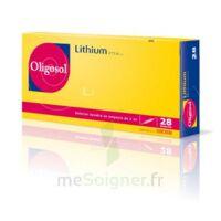 Oligosol Lithium Solution buvable en ampoule ou en récipient unidose 28Amp/2ml à Trelissac