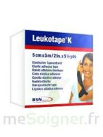 LEUKOTAPE K Sparadrap noir 5cmx5m à Trelissac