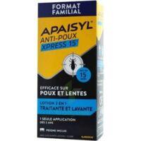 Apaisyl Anti-poux Xpress 15' Lotion antipoux et lente 200ml+peigne à Trelissac