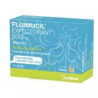 FLUIMUCIL EXPECTORANT ACETYLCYSTEINE 600 mg Glé s buv adultes 10Sach à Trelissac