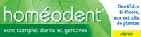 Boiron Homéodent Soin Complet Dents Et Gencives Pâte Dentifrice Citron 2t/75ml à Trelissac