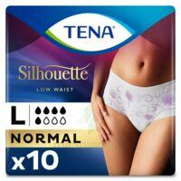 Tena Lady Silhouette Slip Absorbant Blanc Normal Large Paquet/10 à Trelissac